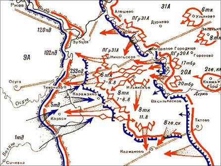 карта боев подо ржевом